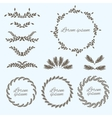 Set flower ornament Design elements vector image