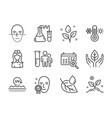 set healthcare icons such as face verified uv vector image vector image