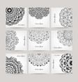 set of ornate cards for your design vector image