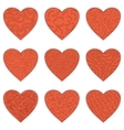 Set Valentine hearts vector image vector image