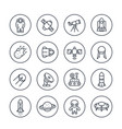 space and astronomy line icons on white vector image vector image