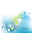 spring decoration cute flowers over blue vector image