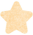star shape with paint texture vector image vector image