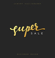 Super Sale offer text gold calligraphy written by vector image vector image