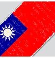 Taiwan grunge flag vector image vector image
