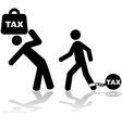 Tax burden vector image vector image