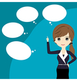 Thinking business woman vector image