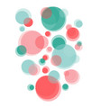 transparent simple soap bubbles are flying up vector image vector image