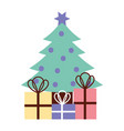 tree merry christmas card vector image