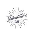 valentines day handwritten lettering label vector image vector image
