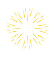 vintage burst light rays vector image vector image