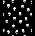 white human skulls pattern vector image