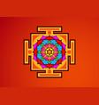 yantra tibetan colorful mandala lotus flower vector image vector image