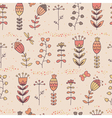 Floral seamless pattern in cartoon style vector image