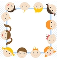 frame with funny kids vector image