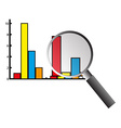 Business graph analysis vector image