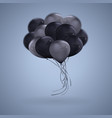 3d realistic dark color balloons clipart vector image
