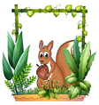 A squirrel with a nut vector image vector image