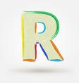Alphabet letter R Watercolor paint design element vector image vector image