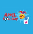 april fools day typography colorful flat vector image vector image