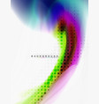 background abstract - liquid colors wave flow vector image vector image
