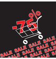 Big sale 75 percentage discount vector image vector image
