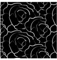 black roses background vector image vector image