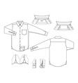 Blank shirt vector image