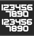 bold numbers set math symbols mockup white vector image