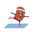 cartoon potato funny vegetable character doing vector image vector image