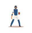 catcher baseball player character in uniform and vector image vector image