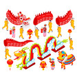 chinese new year isometric set vector image vector image