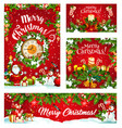 christmas winter holiday santa and gifts vector image vector image