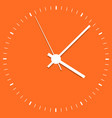 clock icon office clock on orange background vector image vector image