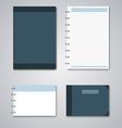 Collection blue and white notebooks template vector image vector image