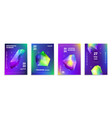 crystals abstract posters 3d holographic mineral vector image