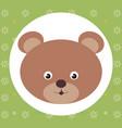 cute bear head tender character vector image vector image