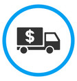 dollar delivery rounded icon vector image vector image