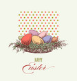 easter eggs greeting card colorful eggs in a vector image