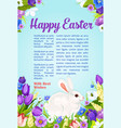 easter wishes and greeting poster vector image vector image