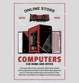 electronics and computers online store vector image