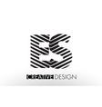 es e s lines letter design with creative elegant vector image vector image