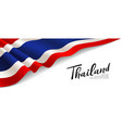 flag thailand banner fabric design isolated vector image vector image