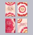flyer design sun theme vector image