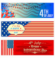 fourth of july background for happy independence vector image vector image