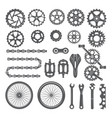 gears chains wheels and other different parts of vector image vector image