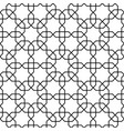 islamic pattern seamless geometric black vector image vector image