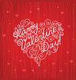lettering happy valentine s day in the form of vector image