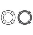 lifebuoy line and glyph icon sos vector image