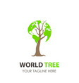 logo tree world design green eco leaf icon nature vector image vector image